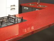 Đá granite đỏ mang vẻ thu hút cho không gian sống