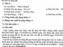 Bán nhà số 51/38/11 đường Công Lỡ,p15,Tân Bình,TP HCM