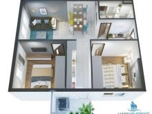Tư vấn 24/24 căn hộ Hà Đô Riverside Q12- 2PN 56m2 ( Mai Lạng 0904897439)