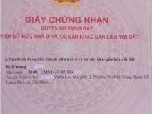 Đất Nền, đường Vườn Lài, quận 12, Tphcm