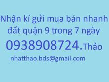 Chuyên đất dự án Phú Nhuận, Nam Long, kiến á phươc long B, quận 9