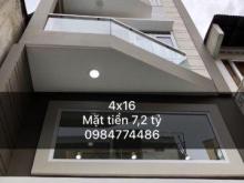 Bán nhà mặt tiền Nguyễn Thượng Hiền, p6, Bình Thạnh ◇◇ Diện Tích: 4x16m ◇◇ Kết Cấu: Trệt Lửng 3 Lầu, mái đúc. Có thể thiết kế full thành 5 lầu. ◇ 7,2 tỷ