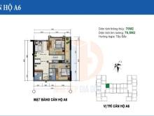 Bán gấp căn hộ 70m2 dự án 282 Nguyễn Huy Tưởng 1,5 tỷ bao phí 0963396945