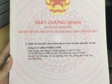 Bán gấp liền kề 108m2, hướng ĐN, mặt tiền 6m, Fairy Town Vĩnh Yên, sổ đỏ ngay, giá 16 triệu/m2. LH: 0972397793