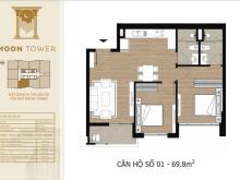 Bán căn 1101 giá tốt nhất dự án Tây Hồ Residence, 70m2 2PN, hỗ trợ vay 0% lãi suất, sắp nhận nhà.