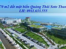 Bán đất mặt biển Quảng Thái, Quảng Xương, Thanh Hóa, diện tích 270m2 sổ đỏ đất ở bắc 100%