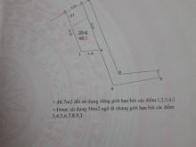 Bán 48.7m2 đất sổ đỏ chính chủ tại Đội 2, Tả Thanh Oai, Thanh Trì, Hà Nội