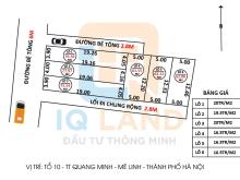 Cần tiền bán gấp 77,9m2 trục chính Kinh Doanh Tổ 10  Quang minh, giá cực sốc. Lh 0981568317